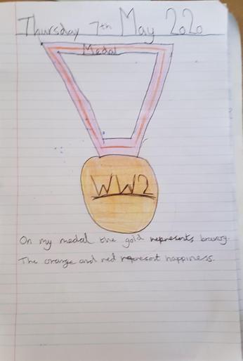 Emily's VE Day medal!