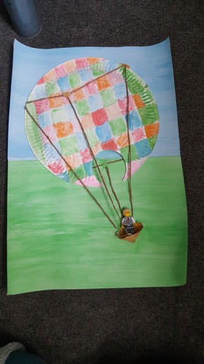CJ's Elmer the elephant themed hot air balloon