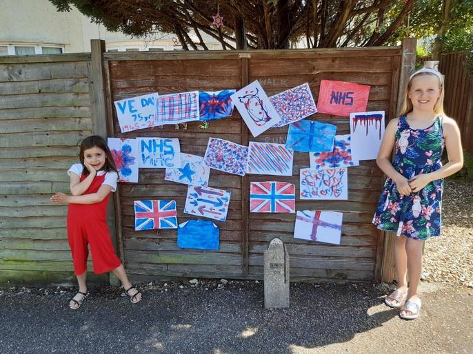 Neve's wonderfully decorated fence