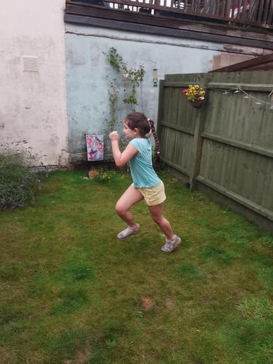 Emma sprinting away!