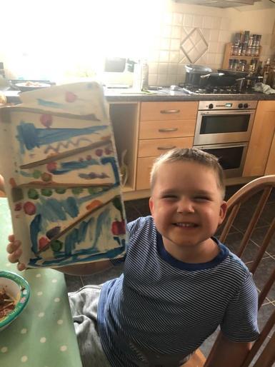 Nicholas enjoyed making his marble run!