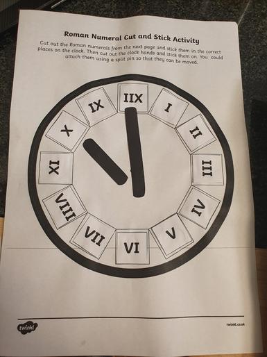 Amelia's superb Roman Numeral clock