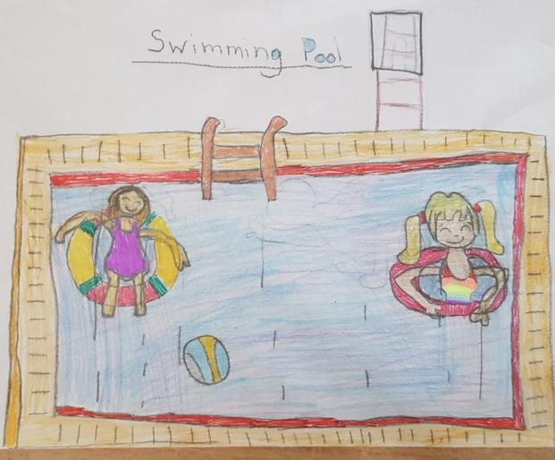 Emily's super swimming pool picture!