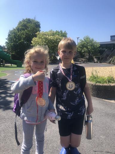 Lottie's medal for her mum