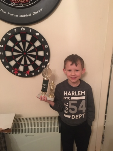 Bobby being a darts champion