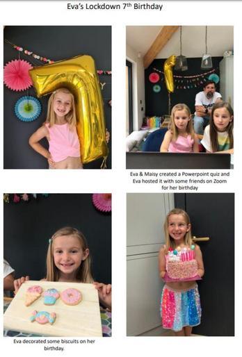 Eva's lockdown 7th birthday