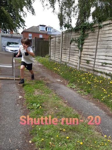 Martin enjoying his shuttle run!