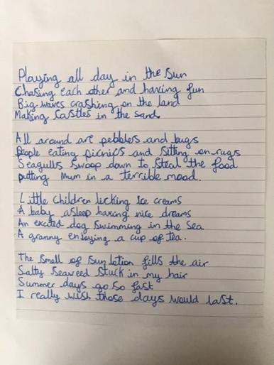 More brilliant poetry from Aimee!