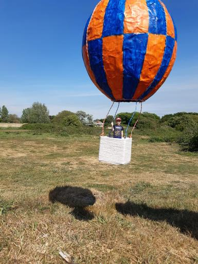 Mark in his hot air balloon!!! How amazing!!