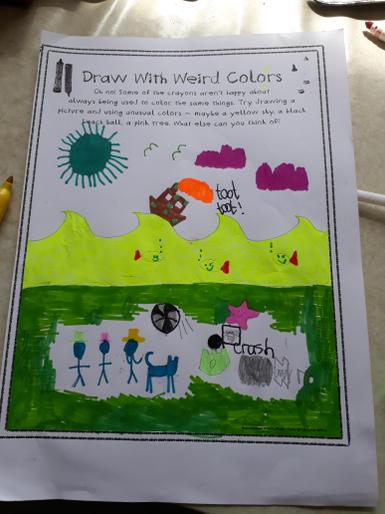 Albie's 'different colour' drawing