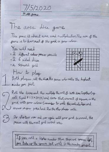 Benas' brilliant maths game