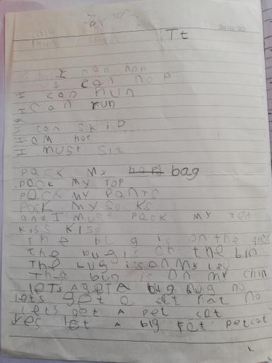 Jayton's wonderful writing