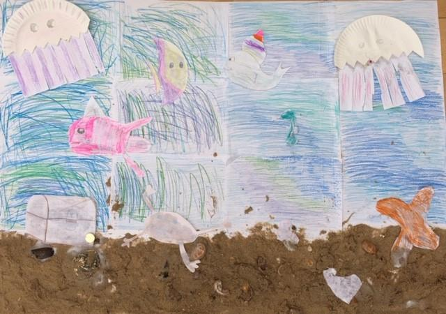 Isabella's beautiful under the sea picture!