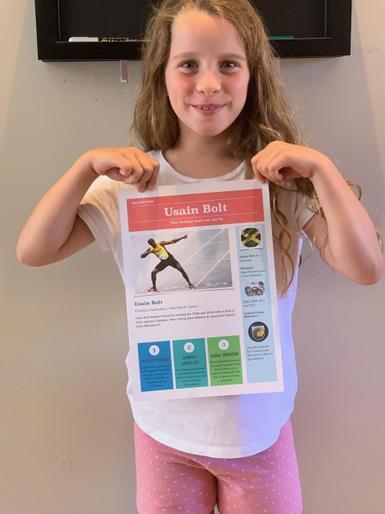 Isabelle's Usain Bolt research - It's super!