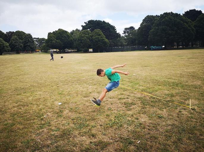 James' marvellous long jump