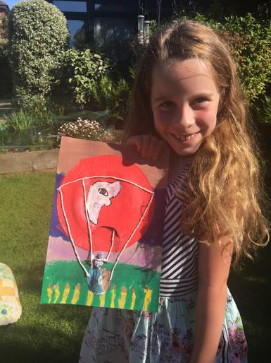 Isabelle's brilliant balloon picture!