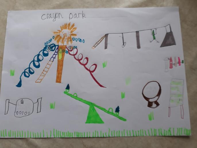 Albie's crayon park design