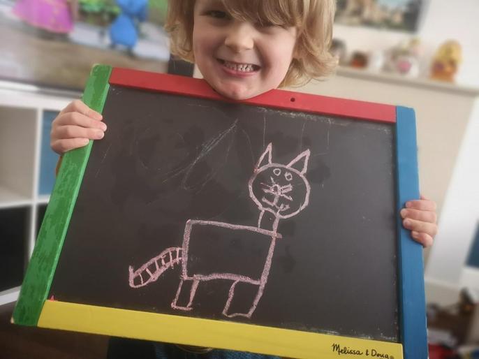 Logan's cat drawing