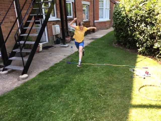 Luca's lung jump!