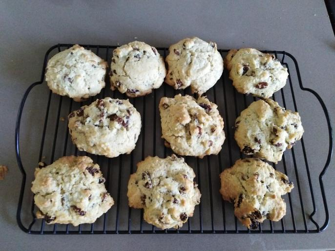Chef Edith's finished rock cakes!