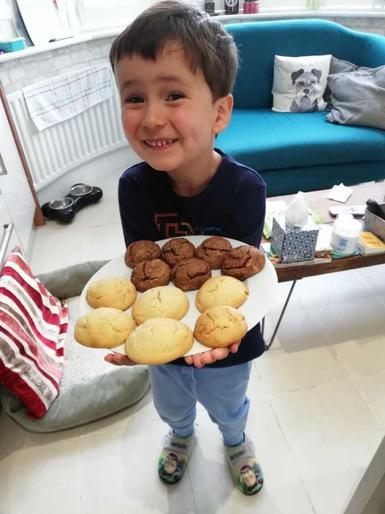 Noah's moon cakes!