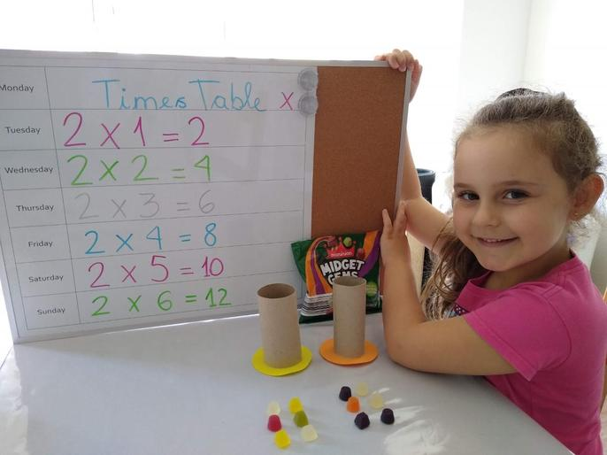 Rafaela's times tables-look at those tasty arrays