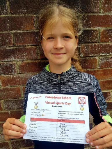 Nikola proud of her results!