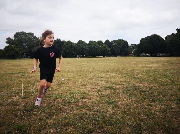Tallulah being a super runner!