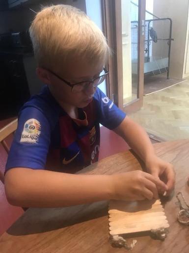 Albert busy making