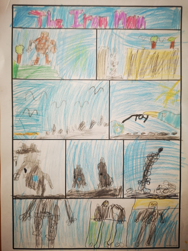 Tallulah's Iron Man comic strip!
