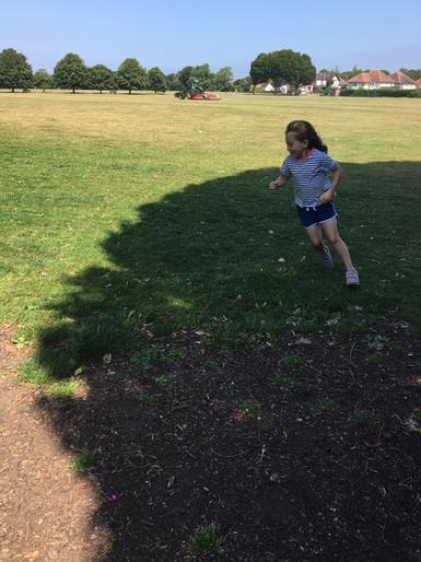 Bailey being a speedy superstar!