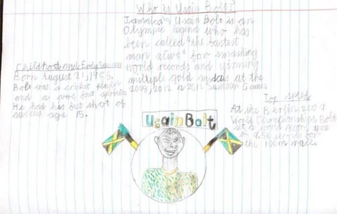 Janus' research on Usain Bolt