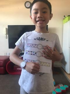 Zek designed watches to help him tell the time!