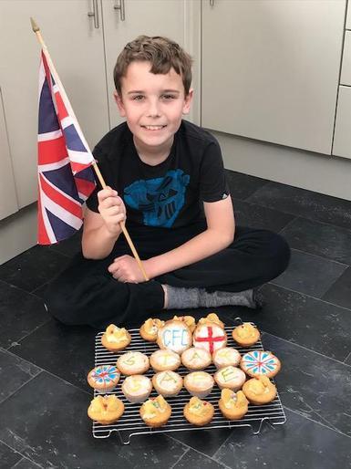 Samuel's VE Day cupcakes!