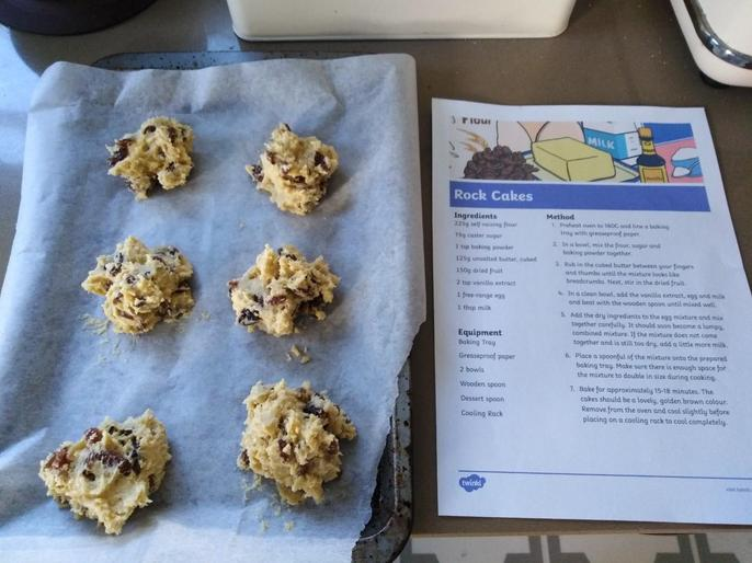 Chef Edith making some rock cakes!
