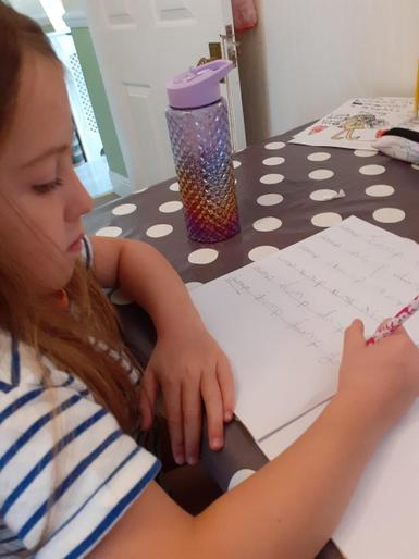 Bailey doing some super writing