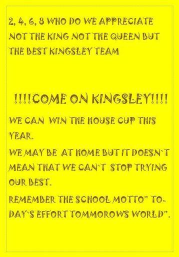 Samuel's super poster for team Kingsley!
