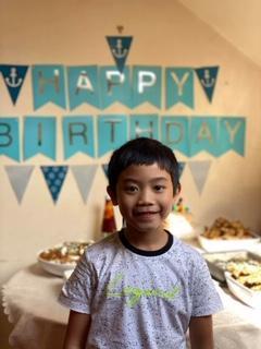 Zek enjoying birthday celebrations!