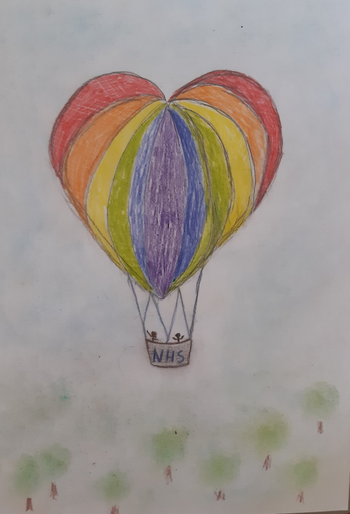 Martin's hot air balloon design - NHS themed