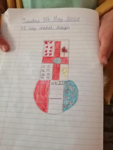 Connie's VE Day medal design