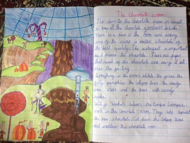 Emma's description of the chocolate room!