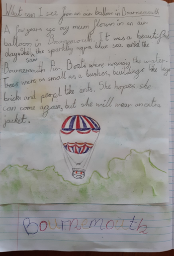 Martin's super hot air balloon writing