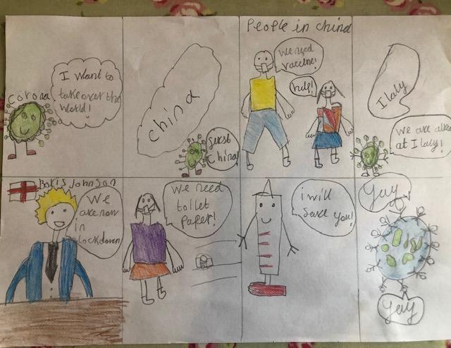 Evie's coronavirus cartoon!