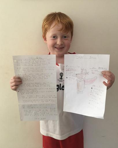 Sid and his AMAZING fantasy story!