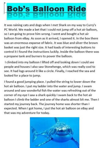 Charlie's hot air balloon story
