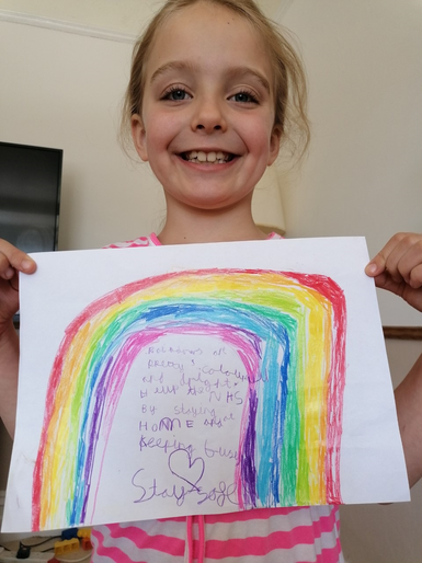 Phoebe's beautiful rainbow poem for the NHS
