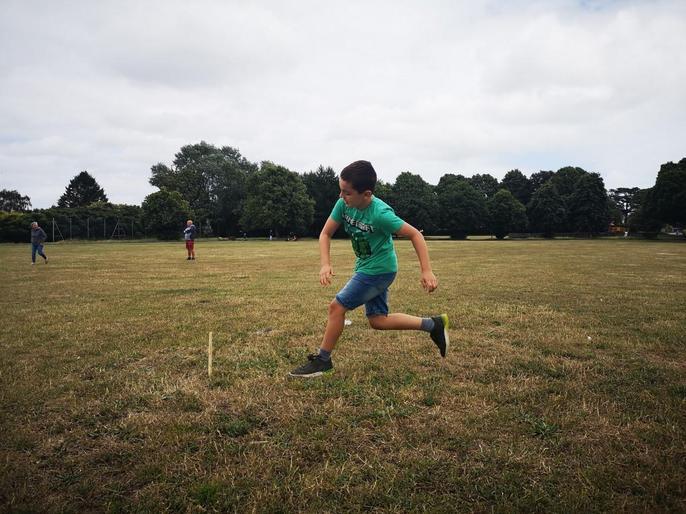 James sprinting away!