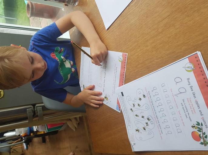 Finn's AMAZING handwriting practise!