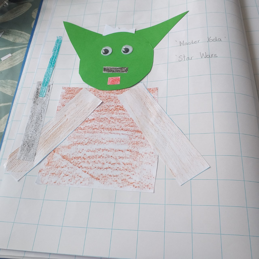 Yoda made from 2D shapes by Caolfhionn