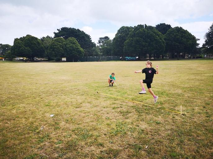 James and Tallulah enjoying their Sports Day